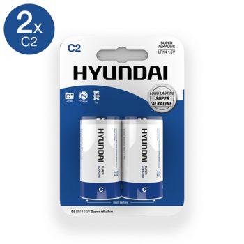 Super Alkaline C-Batterijen - 2 Stuks
