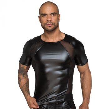 Wetlook Shirt Met Netstof Gedeeltes